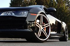LORENZO® - WL197 Titanium Gray with Machined Face and SS Lip on Audi R8