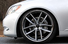 LORENZO® - WL199 Titanium Gray with Machined Face and SS Lip on Lexus LS