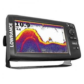 Lowrance® - Elite-9 Chirp Fishfinder/Chartplotter with 83/200/455/800kHz Transducer