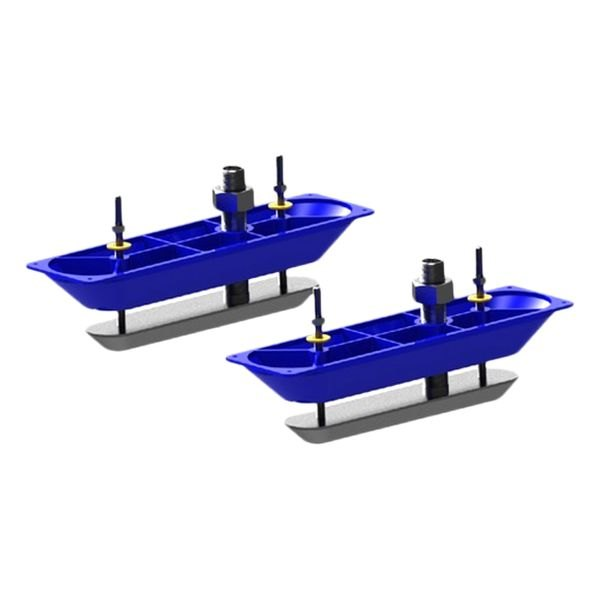 Lowrance® - StructureScan™ Stainless Steel Thru-hull Mount Transducers, Pair