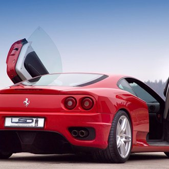 LSD-Doors® - Lambo Vertical Doors on Ferrari 360 Spider