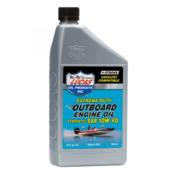 Lucas Oil 10662 Synthetic Outboard Engine Oil Sae 10w