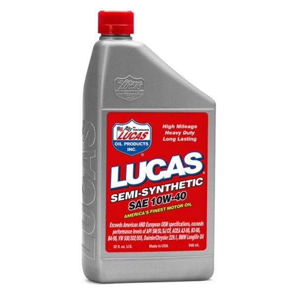 Lucas Oil 10176 Sae 10w 40 Semi Synthetic Motor Oil
