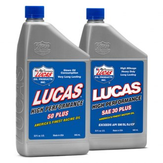 Lucas Oil® - Plus High Performance Petroleum Racing Motor Oil