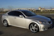 LUMARAI® - Morro Silver with Mirror Cut Face and Lip Wheels on Lexus IS250