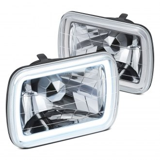 "Lumen® - 7x6"" Rectangular Chrome CCFL Halo Headlights"