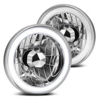 "Lumen® - 7"" Round Chrome CCFL Halo Headlights"