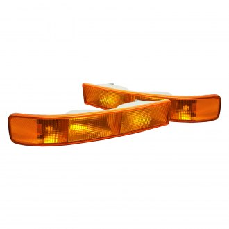 Lumen® - Chrome/Amber Factory Style Turn Signal/Parking Lights