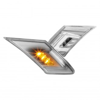 Lumen® - Chrome LED Side Marker Lights With DRL Bar