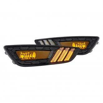 Lumen® - Yellow Fog Lights with LED DRL/Turn Signal