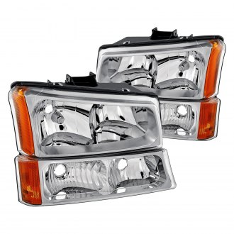 Lumen® - Chrome Euro Headlights with Bumper Lights