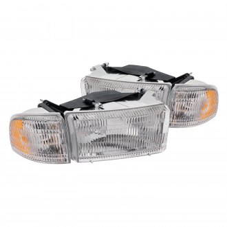 Lumen® - Driver and Passenger Side Chrome Factory Style Headlights with Corner Lights