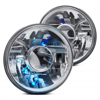"Lumen® - 7"" Round Chrome Projector Headlights"