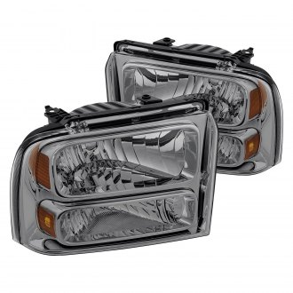 Lumen® - Chrome/Smoke Euro Headlights