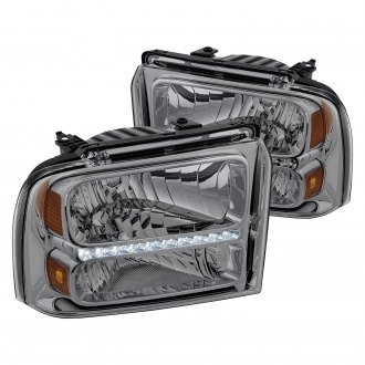 Lumen® - Chrome/Smoke Euro Headlights with Parking LEDs