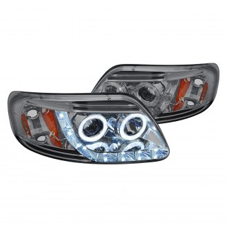 Lumen® - Chrome/Smoke Halo Projector Headlights with Parking LEDs