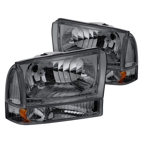 Ford F 250 Headlights : Lumen ford f chrome smoke euro headlights with