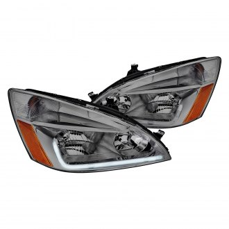 Lumen®   Chrome/Smoke LED DRL Bar Headlights