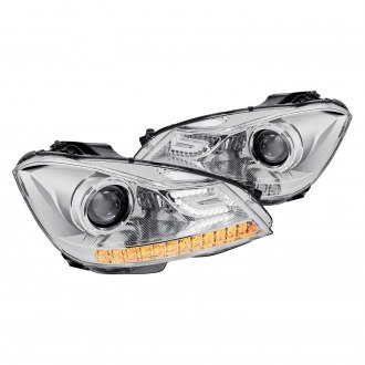 Lumen® - Chrome Projector Headlights with LED DRL and Turn Signal
