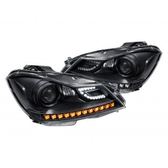 Lumen® - Black Projector Headlights with LED DRL and Turn Signal
