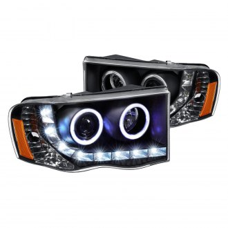 Lumen® - Black Halo Projector Headlights with Parking LEDs