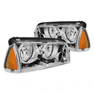 Lumen® - Chrome Euro Headlights with Corner Lights