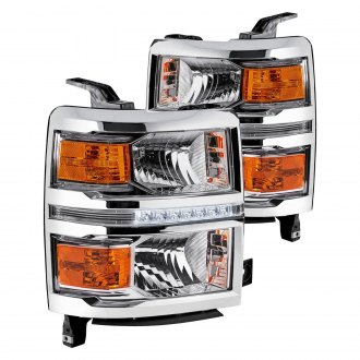 Lumen® - Chrome Euro Headlights with LED DRL