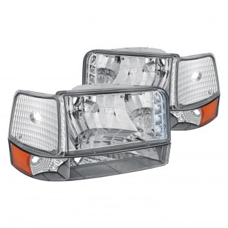 Lumen® - Chrome LED Euro Headlights with Bumper and Corner Lights