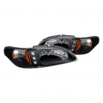 Lumen® - Black Euro Headlights with Parking LEDs
