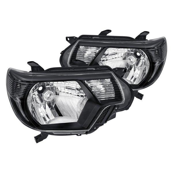Toyota Tacoma Headlights: Toyota Tacoma 2012 Black Factory Style Headlights