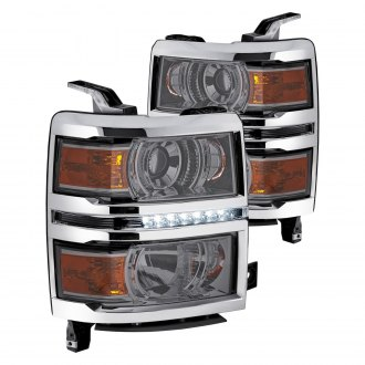 Lumen® - Chrome/Smoke Projector Headlights with LED DRL