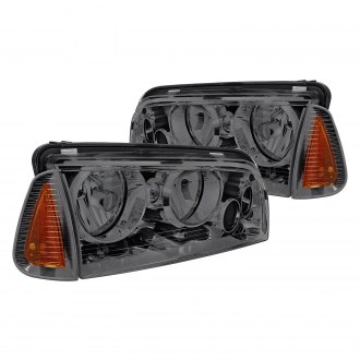 Lumen® - Chrome/Smoke Euro Headlights with Corner Lights