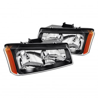 Lumen® - Black/Smoke Euro Headlights