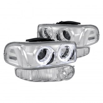 Lumen® - Chrome Dual Halo Projector Headlights with Corner Lights