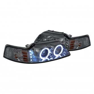 Lumen® - Chrome/Smoke Halo Projector LED Headlights