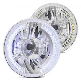"Lumen® - 7"" Round Chrome Projector LED Headlights"