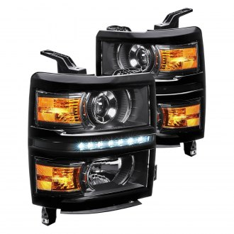 Lumen® - Black Projector Headlights with LED DRL
