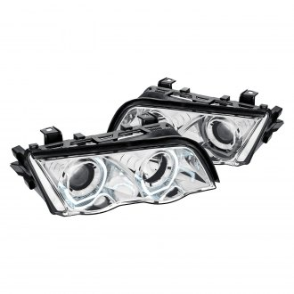 Lumen® - Chrome 3D Crystal U-Bar Projector LED Headlights