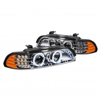 Lumen® - Chrome Halo Projector Headlights with LED DRL and Turn Signal