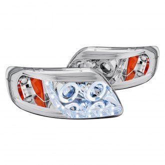 Lumen® - Chrome Halo Projector Headlights with Parking LEDs