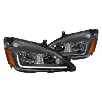 Lumen Black Led Drl Bar Headlights