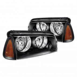 Lumen® - Black Euro Headlights with Corner Lights