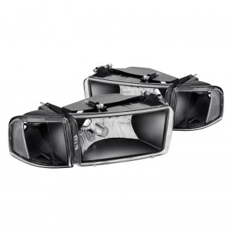 Lumen® - Black Factory Style Headlights with Corner Lights