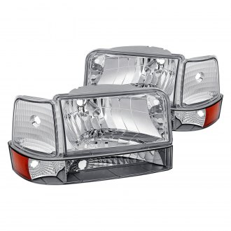 Lumen® - Chrome Euro Headlights with Bumper and Corner Lights