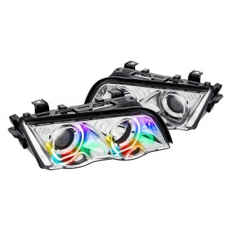 Lumen® - 7 Color Chrome U-Bar Projector LED Headlights