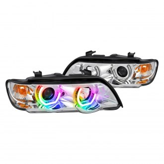 Lumen® - 7 Color Chrome LED DRL Bar Projector Headlights