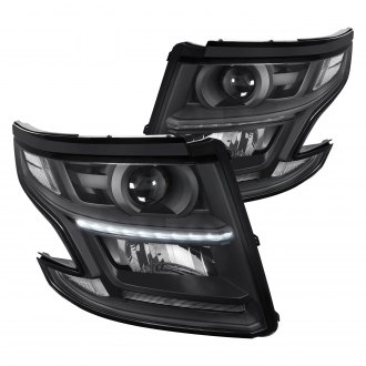 Lumen Black Projector Headlights With Led Drl