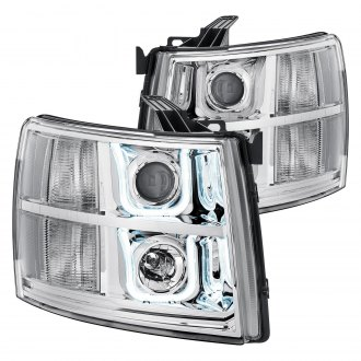 Lumen® - Chrome LED DRL Bar Projector Headlights