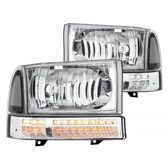Lumen® - Chrome Factory Style Headlights with LED Turn Signal/Parking Lights
