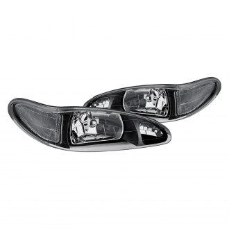 1997 ford escort custom factory headlights carid lumen black factory style headlights fandeluxe Images